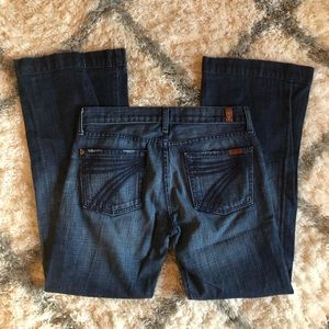 """[7FAMK] Denim Flare """" Dojo"""" Jeans - Size 28"""